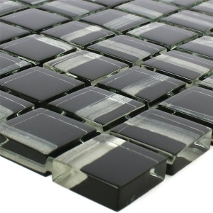 Glass Mosaic Tiles Ordabay Black