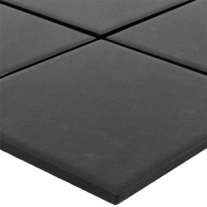 Mosaic Tiles Ceramic Miranda Black Unglazed R10