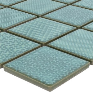 SAMPLE Mosaic Tiles Ceramic Sapporo Green