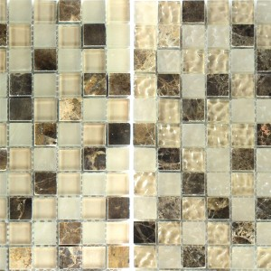 Mosaic Tiles Glass Marble Mix Quebeck Brown