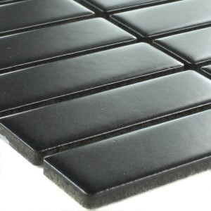 SAMPLE Mosaic Tiles Ceramic Black Sticks Mat