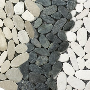 Mosaic Tiles River Pebbles Burgas Cut