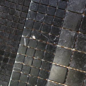 Mosaic Tiles Marble Laval Nero