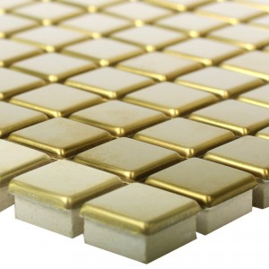 Mosaic Tiles Stainless Steel Metal Baikal Gold