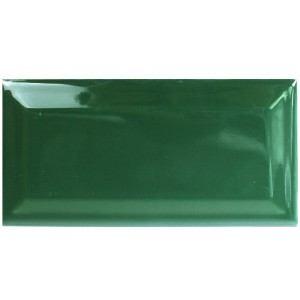 SAMPLE Metro Wall Tiles Rame Green Glossy Facet 7,5x15cm