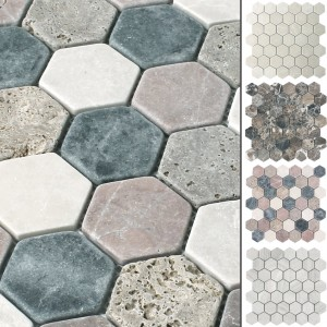 Mosaic Tiles Marble Tarsus Hexagon