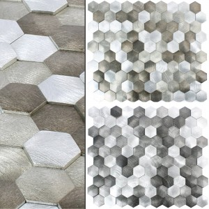 Metal 3D Mosaic Tiles Sindos Hexagon