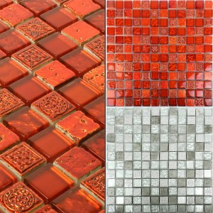 Mosaic Tiles Georgia Glass Natural Stone Mix