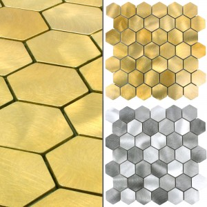 Mosaic Tiles Aluminium Manhatten Hexagon