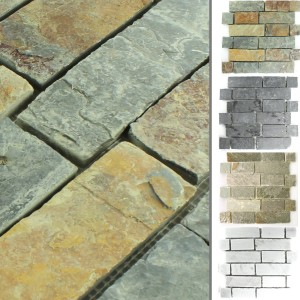 Mosaic Tiles Slate Natural Stone Winter