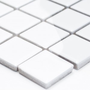Mosaic Tiles Ceramic White Glossy