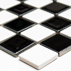 Mosaic Tiles Ceramic Black Chess Board