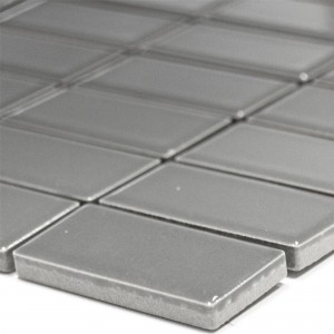Ceramic Mosaic Tiles Adrian Grey Mat Rectangle