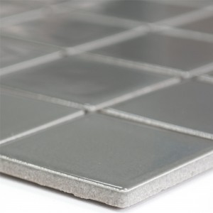 Ceramic Mosaic Tiles Adrian Grey Mat Square 48
