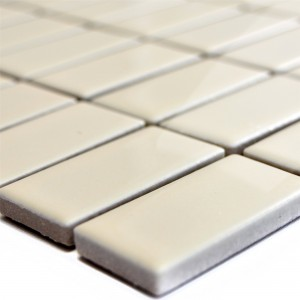 Ceramic Mosaic Tiles Adrian Beige Glossy Rectangle