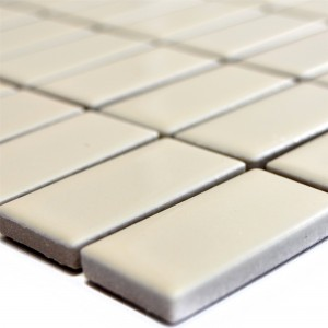 Ceramic Mosaic Tiles Adrian Beige Mat Rectangle