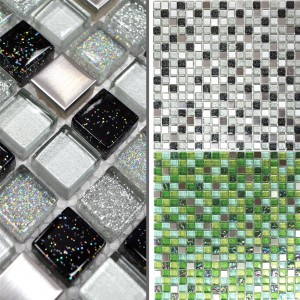 Glass Stainless Steel Metal Mosaic Tiles Sokrates Glitter