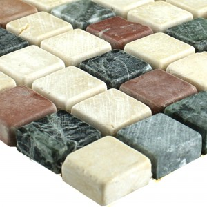Mosaic Tiles Marble Colored Mix 15x15x7mm