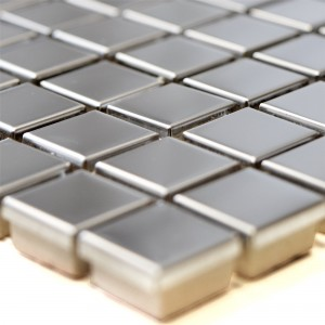 SAMPLE Stainless Steel Mosaic Tiles Magnet Glossy Square 15