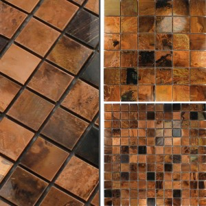 Metal Mosaic Tiles Copper Metal Leiria