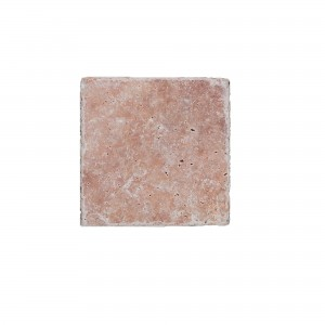 Natural Stone Tiles Travertine Usantos Rosso 10x10cm