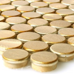 Mosaic Tiles Aluminium Metal Fantom Button Gold