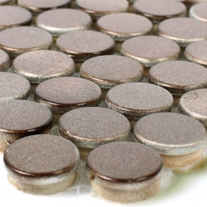 Mosaic Tiles Aluminium Metal Fantom Button Bronze