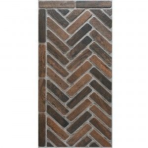 Floor Tiles Country House Style Freeland Dark Brown 45x90cm R11