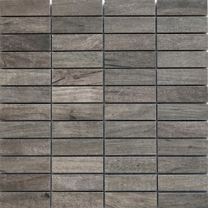 Mosaic Tiles Wood Optic Porcelain Stoneware Emparrado Grey