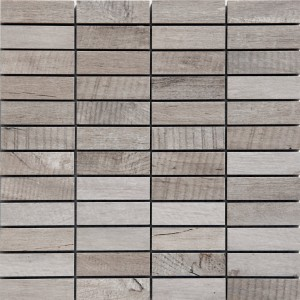 Mosaic Tiles Wood Optic Porcelain Stoneware Emparrado White