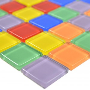 Glass Mosaic Tiles Ararat Colored Mix Slim