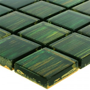Glass Mosaic Tiles Tradition Dark Green