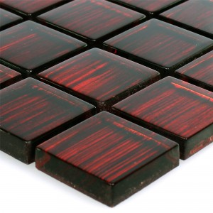 Glass Mosaic Tiles Tradition Red