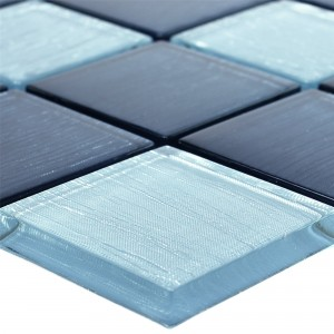 Glass Mosaic Tiles Bellevue Blue