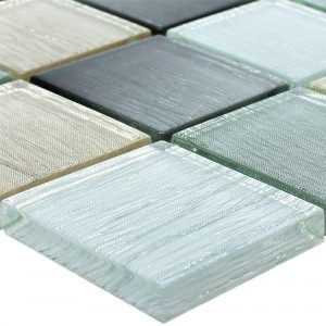 Glass Mosaic Tiles Bellevue Gold Silver