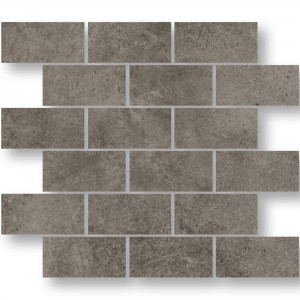 Mosaic Tiles Oregon Grey Brown Rectangle