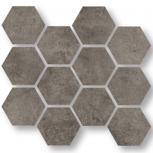 Mosaic Tiles Oregon Grey Brown Hexagon