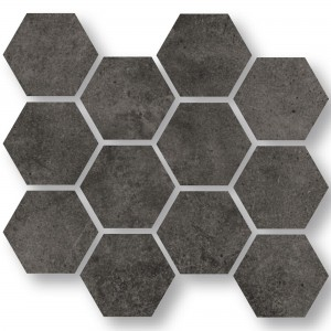 Mosaic Tiles Oregon Anthracite Hexagon