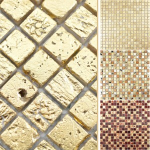 Natural Stone Resin Mosaic Tiles Lucky