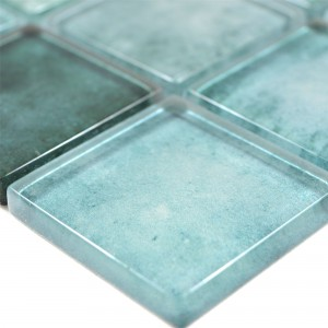 Glass Mosaic Tiles Clementine Green