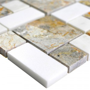Marble Natural Stone Mosaic Cordoba Light Grey White