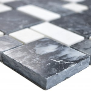 Marble Natural Stone Mosaic Tiles Cordoba Black White