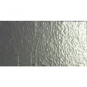 Metro Glas Wall Tiles Subway Grey Mirage Corrugated 7,5x15cm