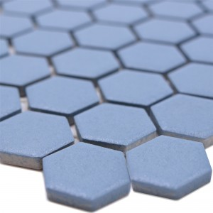 Ceramic Mosaic Bismarck R10B Hexagon Blue H23