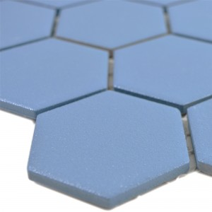 Ceramic Mosaic Bismarck R10B Hexagon Blue H51