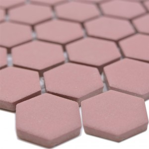 Ceramic Mosaic Bismarck R10B Hexagon Terracotta H23