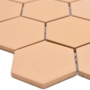 Ceramic Mosaic Bismarck R10B Hexagon Ocher Orange H51