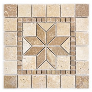 Natural Stone Rosone Clayton Beige Brown 30x30cm