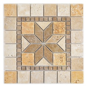 Natural Stone Rosone Volney Beige Brown Gold 30x30cm