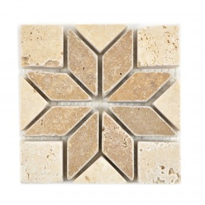 Natural Stone Rosone Baton Brown Beige 10x10cm